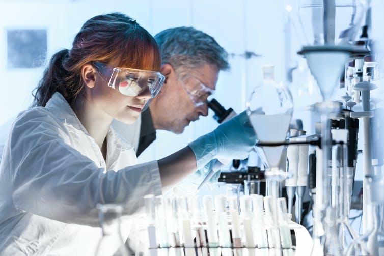 Des scientifiques travaillant dans un laboratoire