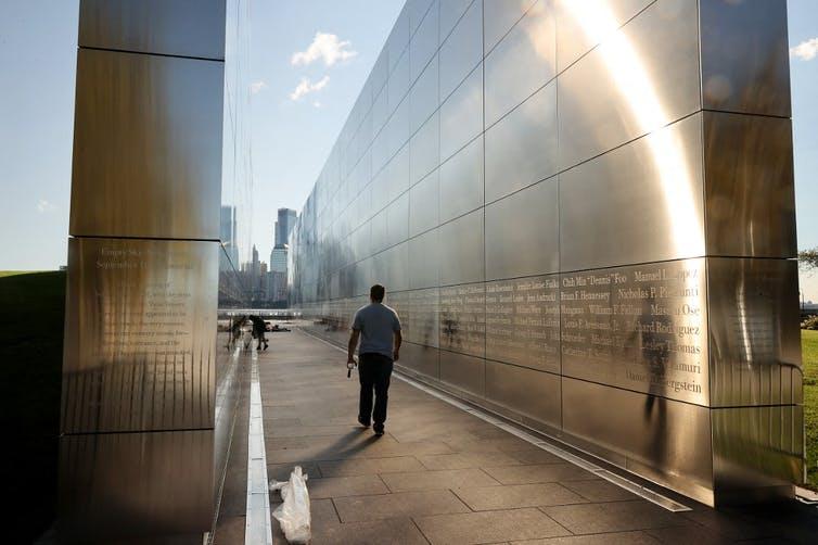 Vue du mémorial dédié à la mémoire du 11Septembre