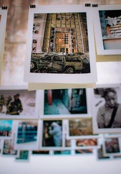 Photo d'une exposition photographique dédiée au 11Septembre