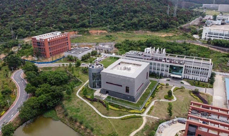 Vue aérienne du P4 du campus de virologie de Wuhan